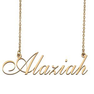 Custom Personalized Alaziah Name Necklace